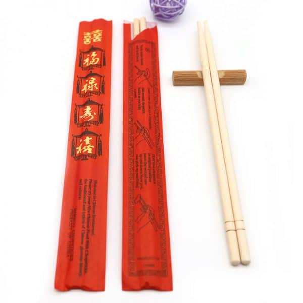 "9"" Bamboo with red paper wrapper"
