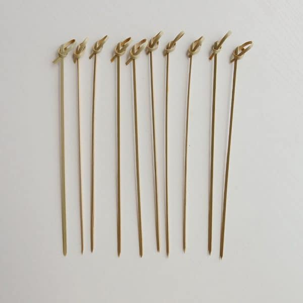 knotted bamboo skewers