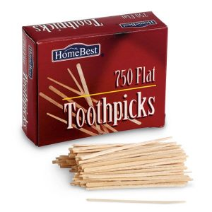 Flat Wooden toothpicks