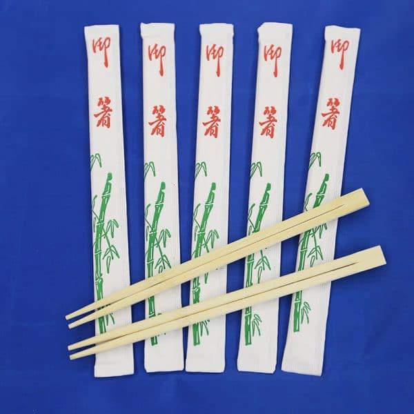 Twin bamboo chopsticks in white Env.3