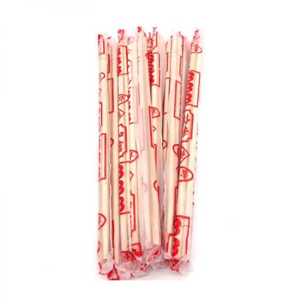 Bamboo chopsticks in PE plastic Env.