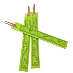 Traditional style bamboo chopsticks